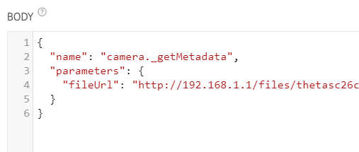 metadata request
